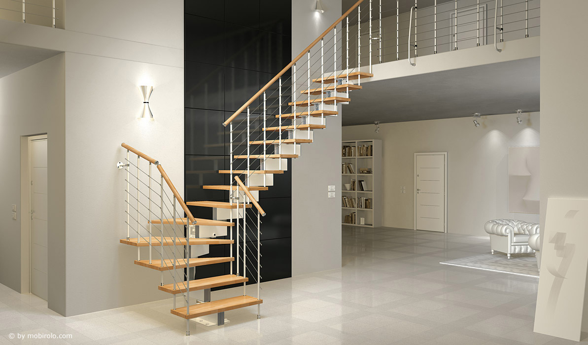 modultreppe jazz fx von mobirolo bei streger treppen. Black Bedroom Furniture Sets. Home Design Ideas