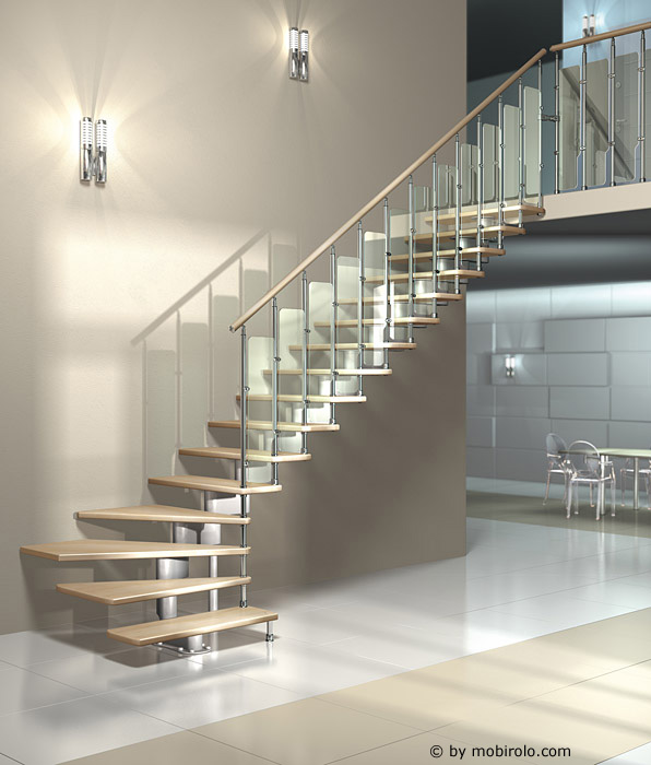 modultreppe nika pan von mobirolo bei streger treppen. Black Bedroom Furniture Sets. Home Design Ideas