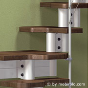 platzsparende treppe dixi von mobirolo bei streger treppen. Black Bedroom Furniture Sets. Home Design Ideas