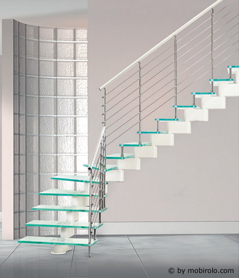 redline treppe nika glass von mobirolo bei streger treppen glastreppe treppe aus glas. Black Bedroom Furniture Sets. Home Design Ideas