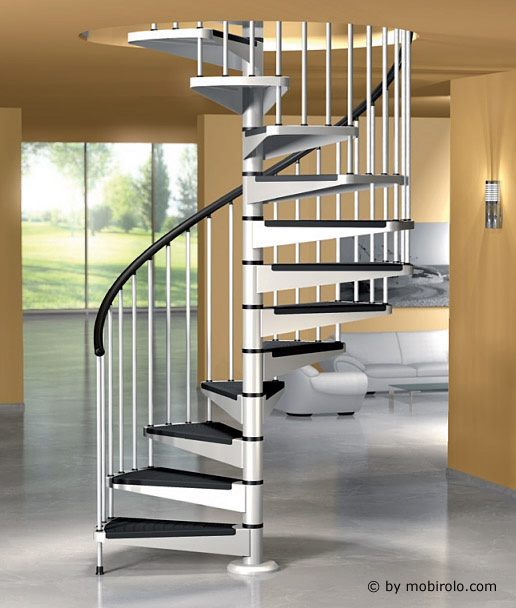 spindeltreppe star von mobirolo bei streger treppen treppe spindeltreppe aus stahl. Black Bedroom Furniture Sets. Home Design Ideas